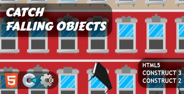 Catch Falling Objects HTML5 Construct 2/3