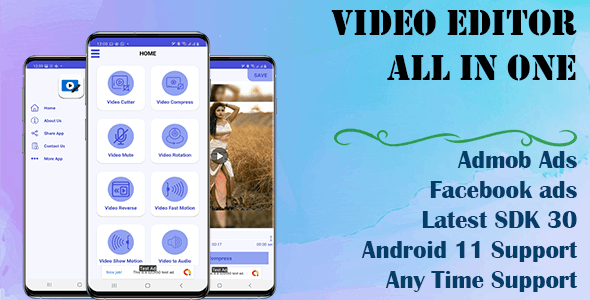 Video All in one Editor-Join, Cut Clone (Android 11 and SDK 30) - CodeCanyon Item for Sale