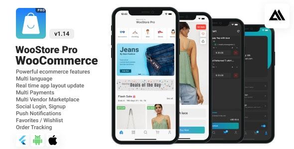 WooStore Pro WooCommerce v1.14.0 – Full Flutter E-commerce App