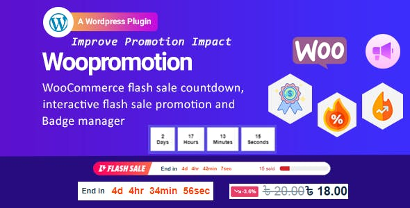 Woopromotion - WooCommerce product promotion sale countdown and Badge Manager