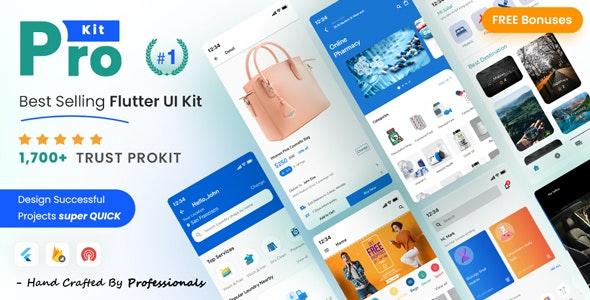 ProKit v33.0 – Best Selling Flutter UI Kit