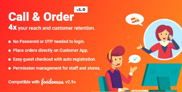 Call And Order Module for Foodomaa