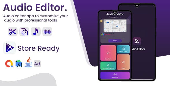 Audio Editor - Android App with - Admob Ads