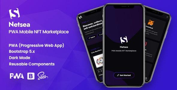 Netsea - PWA Mobile NFT Marketplace - CodeCanyon Item for Sale