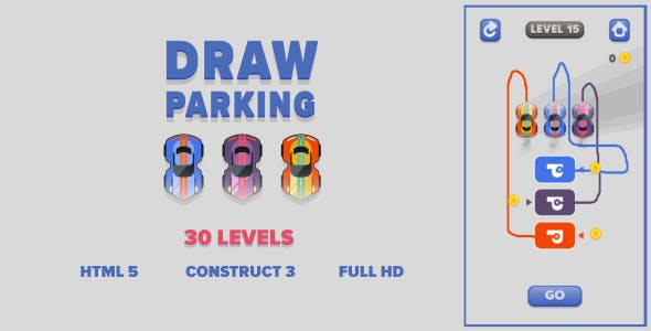 Draw Parking - HTML5 Game (Construct3)