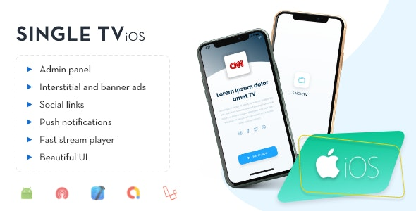 iOS - Single TV with Admin Panel - CodeCanyon Item for Sale