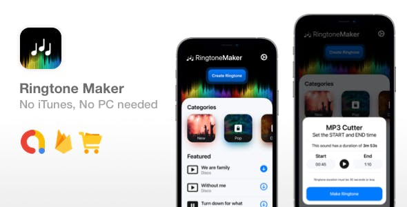 Ringtone Maker - SwiftUI Ringtone App - No iTunes or PC needed