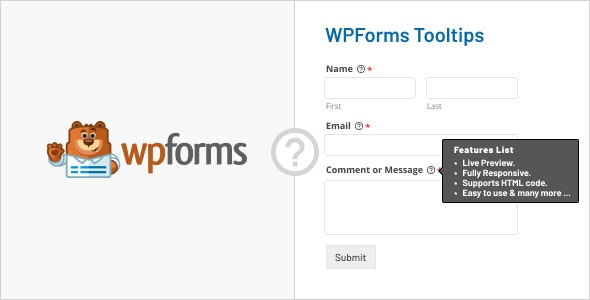 WPForms Tooltips - CodeCanyon Item for Sale