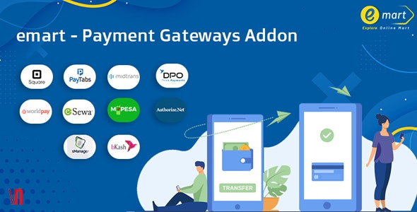 emart - Payment Gateways Addon - CodeCanyon Item for Sale