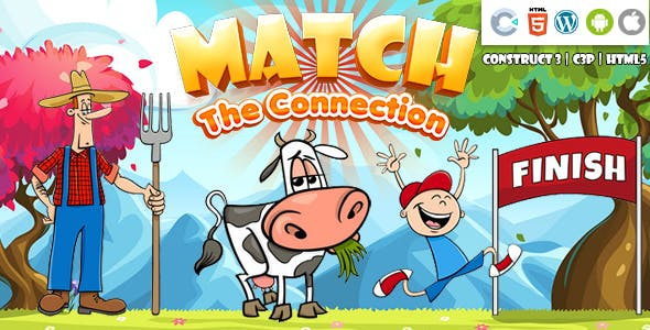 Match the Connection (Construct 3 | C3P | HTML5) Kids Educational Game