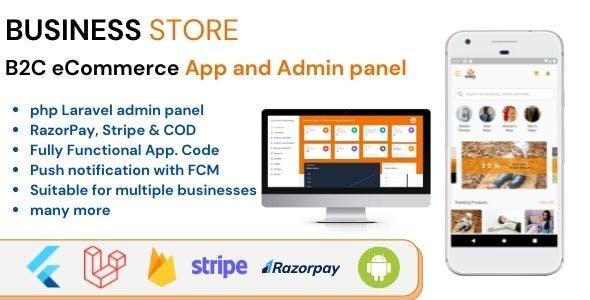 Business Store B2C Flutter ECommerce Full Mobile App with PHP Laravel CMS