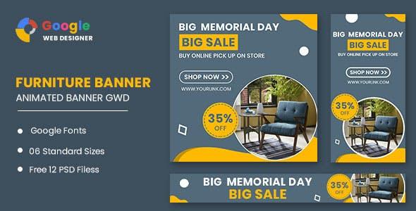 Furniture Model Google Adwords HTML5 Banner Ads GWD