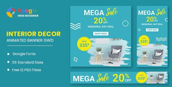 Interior Decor Google Adwords HTML5 Banner Ads GWD - CodeCanyon Item for Sale