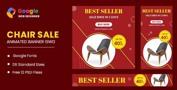 Chair Google Adwords HTML5 Banner Ads GWD - CodeCanyon Item for Sale