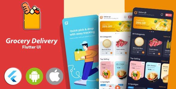 Grocery Flutter App Template 2 | Flutter 2.0