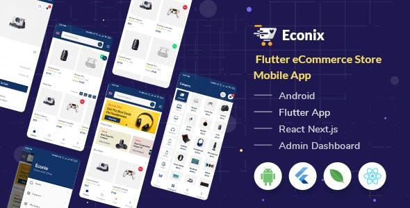 Econix - Flutter eCommerce Store Mobile App + React Node Admin Dashboard
