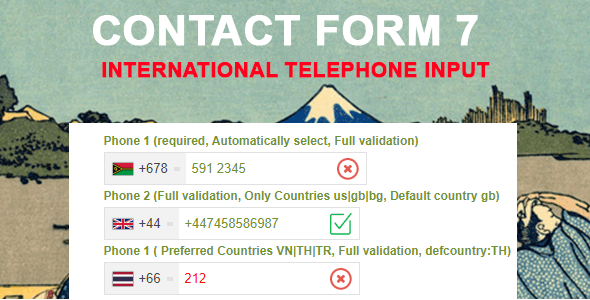 Contact Form 7 International Phone Input - CodeCanyon Item for Sale