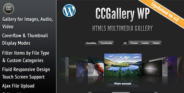 CCGallery WP - Multimedia Gallery Wordpress Plugin