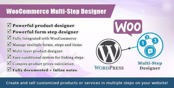 WooCommerce Multistep Form & Product Designer