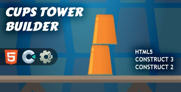 Cups Tower Builder HTML5 Construct 2/3