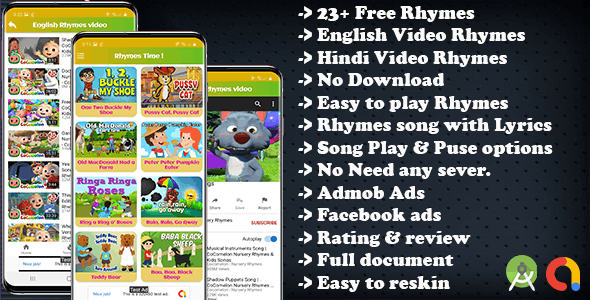 Kids Nursery Rhymes Song and Video Rhymes(android 11 and SDK 30)