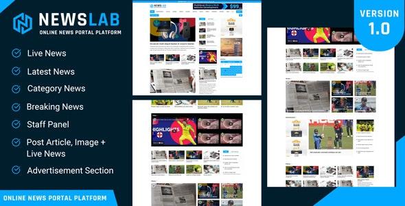 NewsLab v1.0 – Online Newspaper And Magazine Platform – nulled