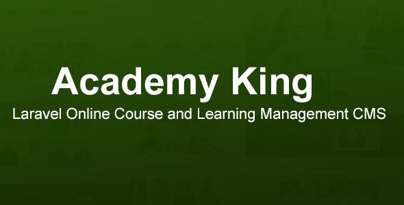 Academy King - Laravel Online Course and Learning Management CMS