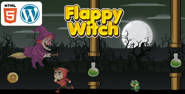 Flappy Witch Game (HTML5) Endless Game