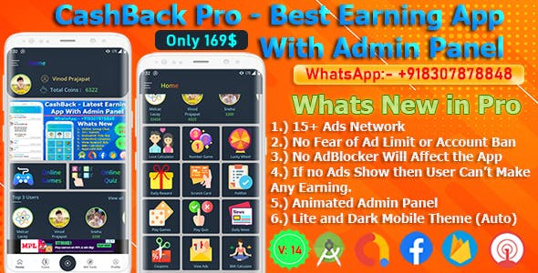 CashBack Pro – The Best Earning App Code