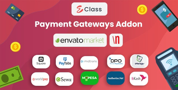 eClass LMS Payment Gateways Addon - CodeCanyon Item for Sale
