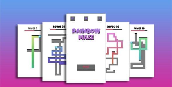 Rainbow Maze Game Template