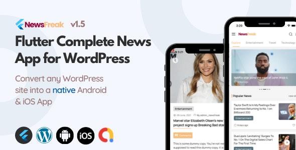 Newsfreak v1.5 – Flutter News App for WordPress