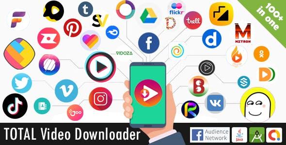 Total Video Downloader Without Watermark Status Saver App + video downloader browser (100+ sources)