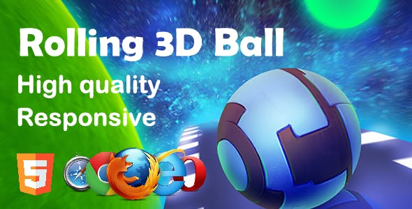 Rolling 3D Ball HTML5 Game