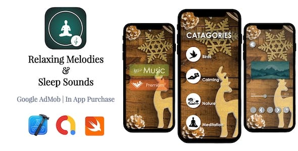 Relaxing Melodies & Sleep Sounds | Google AdMob | In App Purchase | iOS Source Code