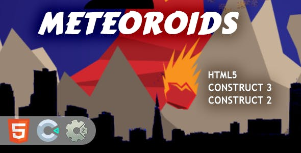 Meteoroids HTML5 Construct 2/3 Game