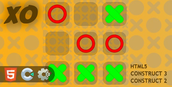 XOX Tic Tac Toe HTML5 Construct 2/3 Game - CodeCanyon Item for Sale