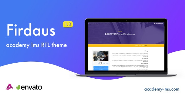Firdaus - Academy Lms RTL Theme - CodeCanyon Item for Sale