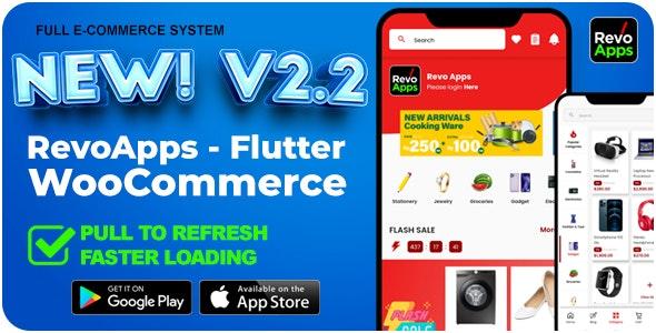 Revo Apps Woocommerce v2.2.0 – Flutter E-Commerce Full App Android iOS