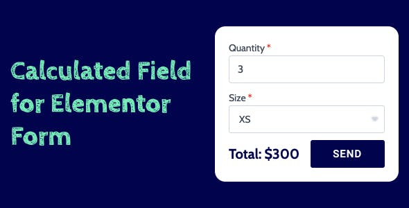 Calculated Field for Elementor Form
