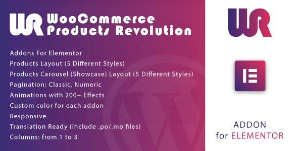 WooCommerce Products Revolution for Elementor WordPress Plugin