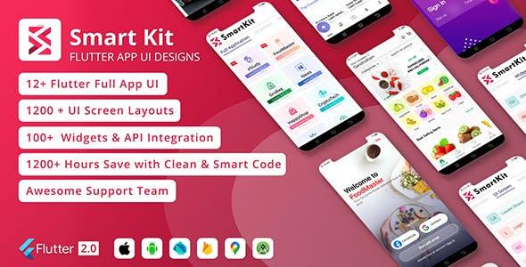 SmartKit - Flutter 2.0 Full UI kit | UI Component | Flutter Material Widget | Integration