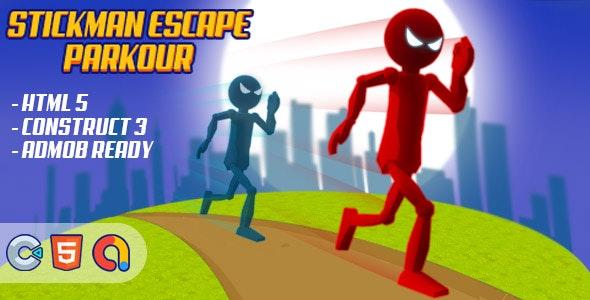 Stickman Escape Parkour - (HTML5 Game - Construct 3 - Admob) - CodeCanyon Item for Sale