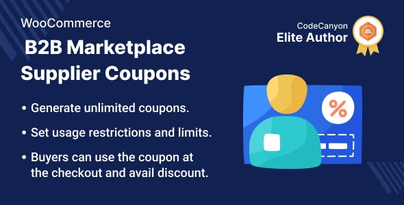 WooCommerce B2B Marketplace Supplier Coupon
