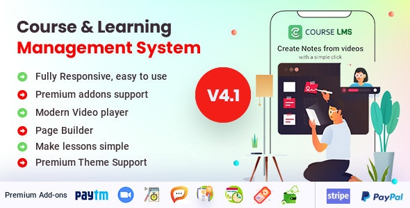 Course LMS - Learning Management System - CodeCanyon Item for Sale