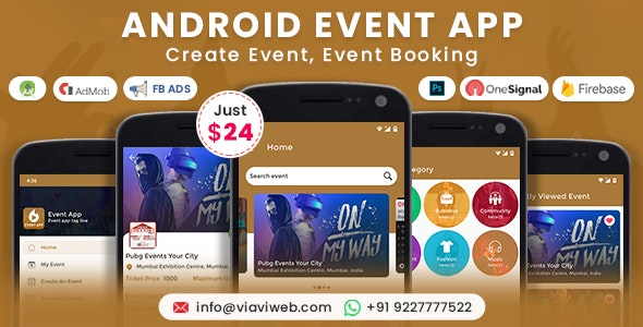 Android Event App (Create Event, Event Booking) - CodeCanyon Item for Sale