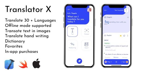 Translator X   iOS Translator App