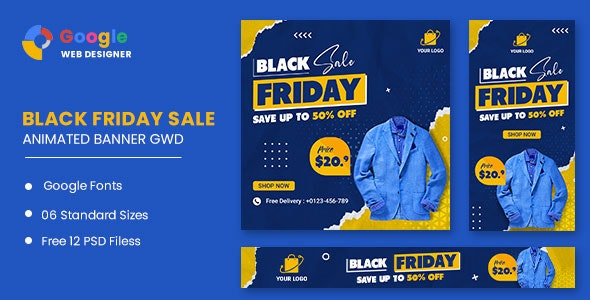 Black Friday Sale HTML5 Banner Ads GWD - CodeCanyon Item for Sale