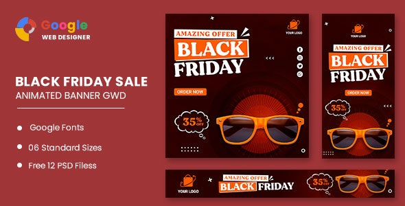 Black Friday Sale Fashion HTML5 Banner Ads GWD - CodeCanyon Item for Sale