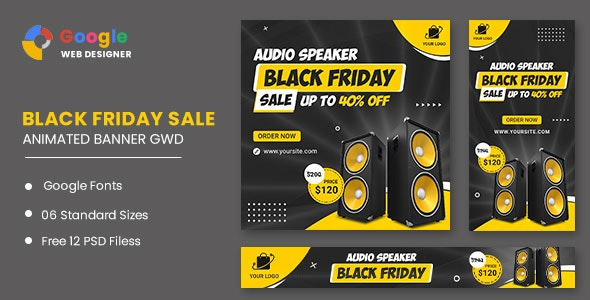 Black Friday Sale Audio HTML5 Banner Ads GWD - CodeCanyon Item for Sale